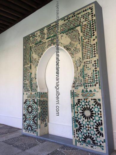 detalle arco mudejar claustro Convento Dueñas