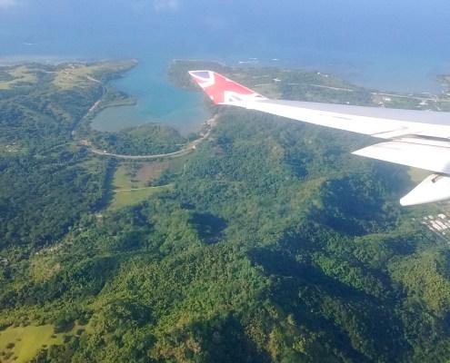 Precioso paisaje antes de aterrizar en Montego Bay