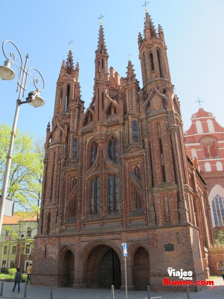 iglesia de santa ana vilnius lituania