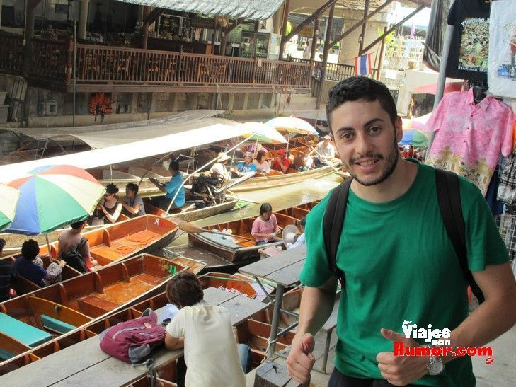 en el mercado flotante de damnoen saduak tailandia