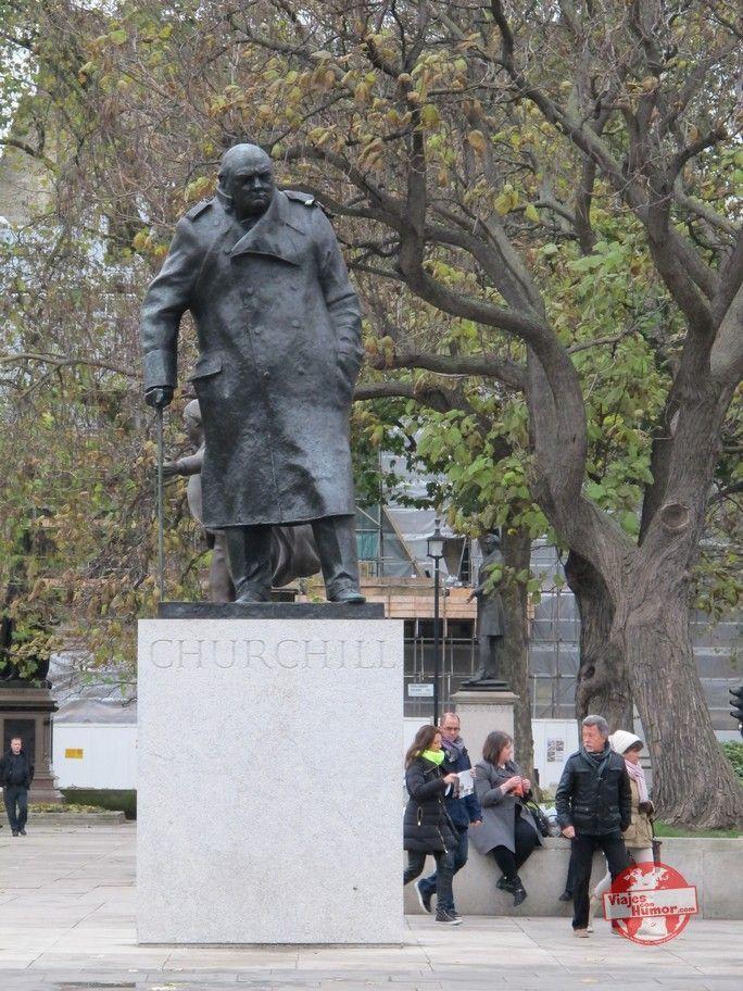 Winston Churchill estatua en Londres