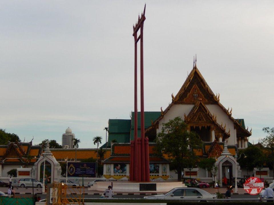 wat suhat y columpio de bangkok