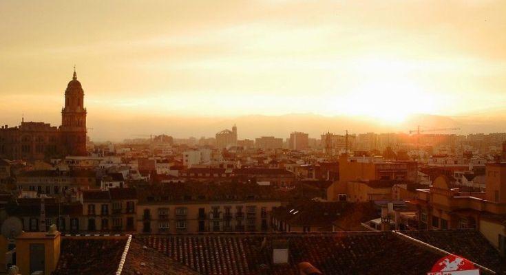 atardecer en Malaga