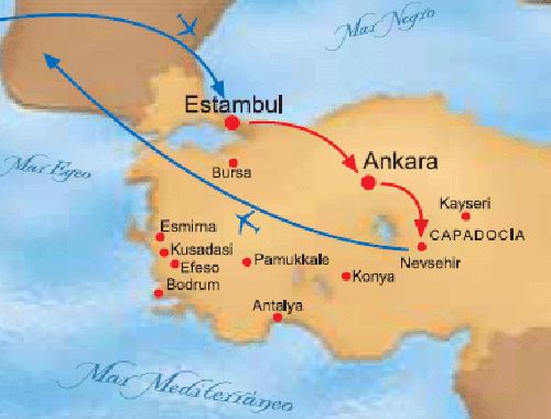 tour turquia mapa