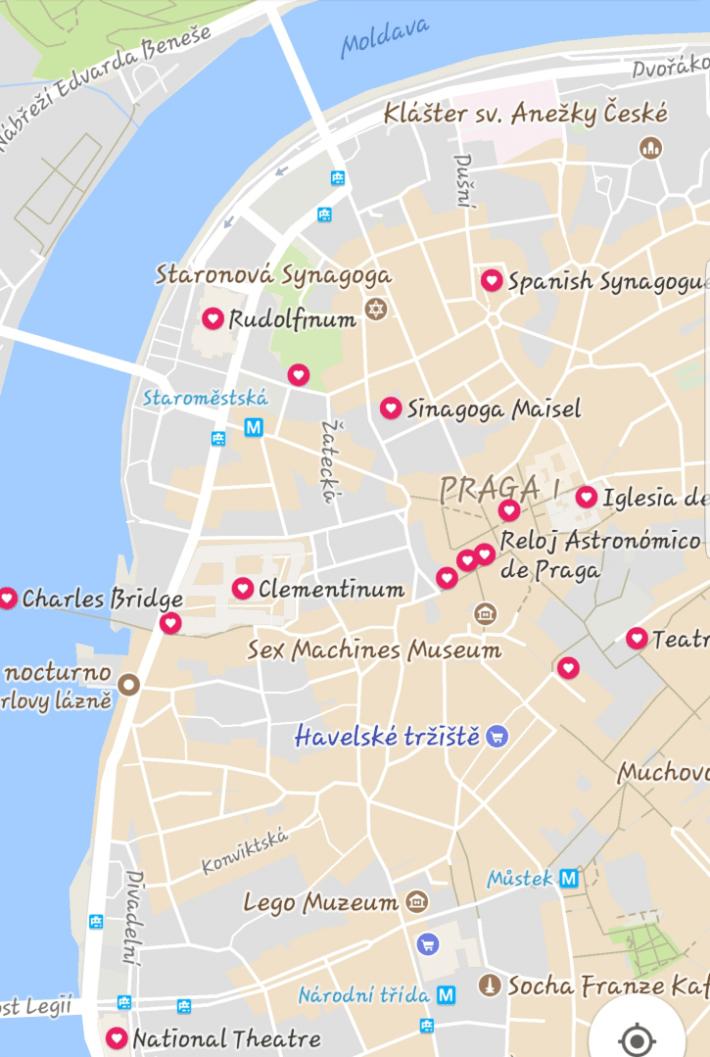 Mapa Praga centro