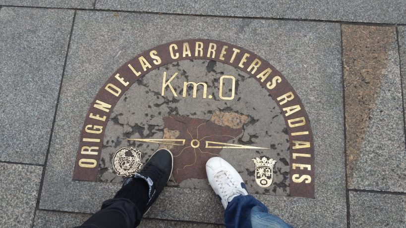 Km 0. Puerta del Sol. Madrid (España)