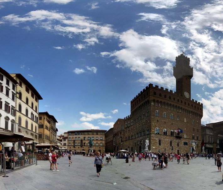 Piazza y Palazzo della Signoria. Florencia (Italia).