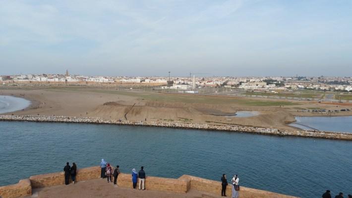 Vistas de Salé desde Rabat (Marruecos)