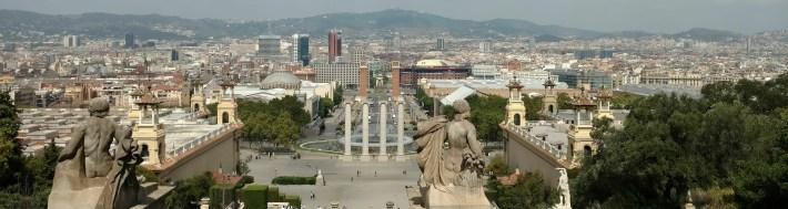 Vistas desde Montjuit. Barcelona (España)