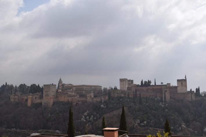 Vistas de la Alhambra desde el mirador de San Nicolás. Granada (España)