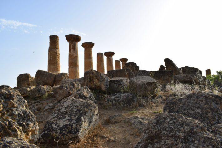 Templo de Hércules, Valle de los Templos, en Agrigento, Sicilia (Italia)