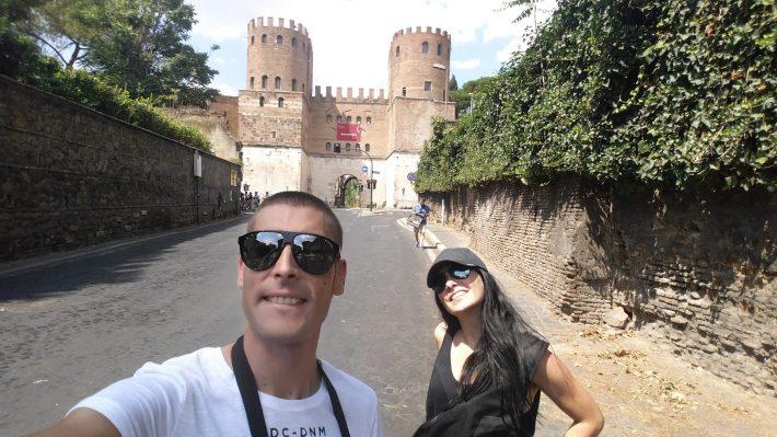Porta San Sebastiano, Via Appia Antica, Roma (Italia)