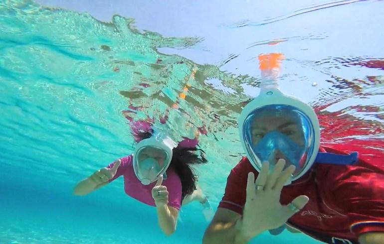 Snorkel en la Isla de Sapientza en el Peloponeso, Methoni (Grecia)