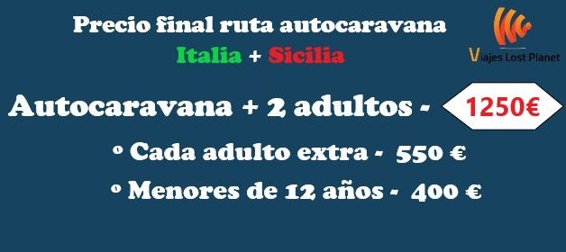 Ruta autocaravana Italia + Sicilia