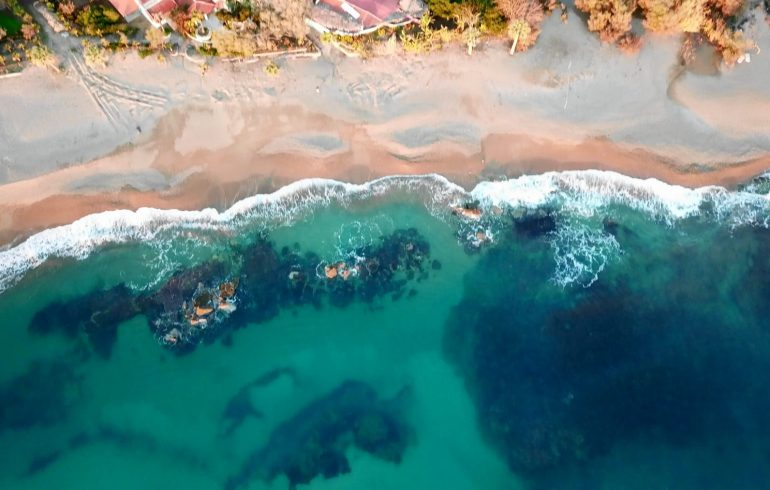 Aginara Beach, Glyfa, Costa Jónica, Peloponeso (Grecia)