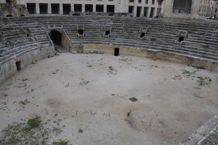 Piazza Sant´Oronzo, Anfiteatro romano, Lecce, Puglia (Italia)