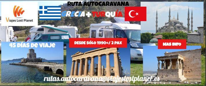 Cartel Ruta Autocaravana Grecia y Turquía