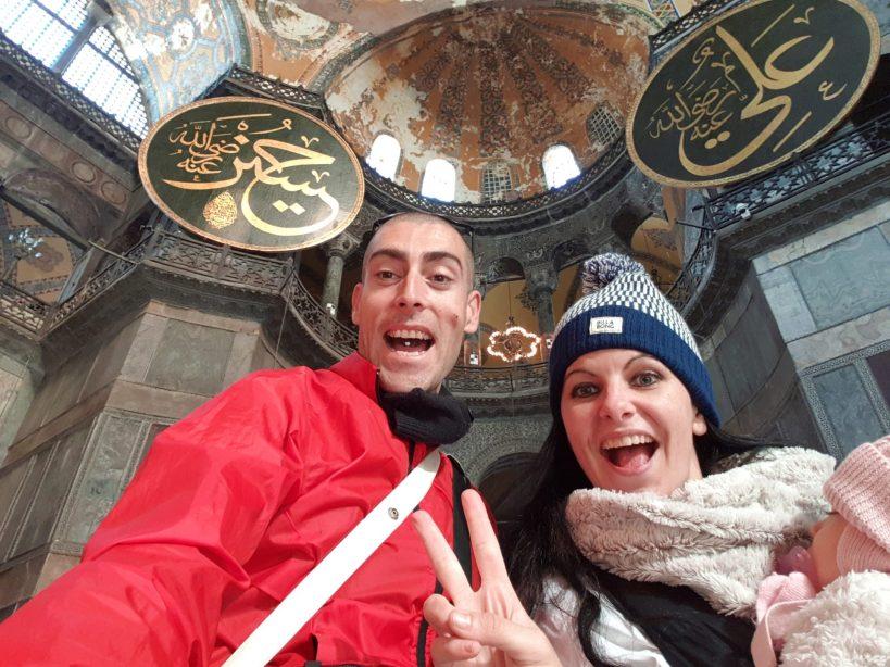 Interior de Santa Sofía, Estambul (Turquía)