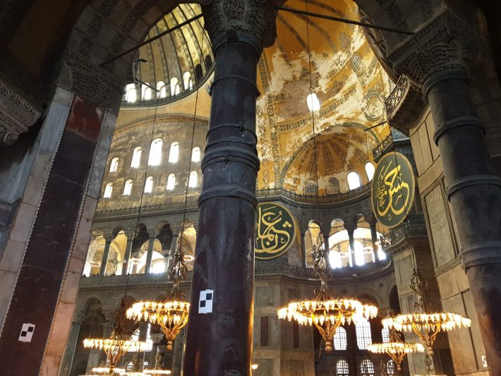 Interior de la Basílica de Santa Sofía, Sultanahmed, Estambul (Turquía)