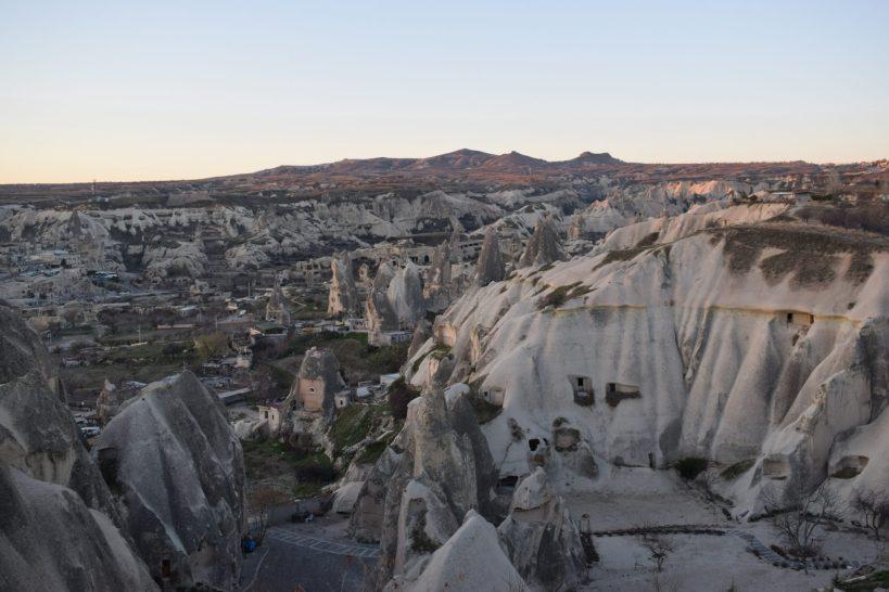 Vistas de Göreme desde la parcela de nuestra autocaravana, Capadocia (Turquía)