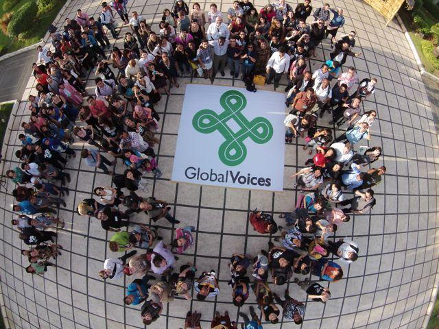 Miembros de la comunidad de  Global Voices pertenecientes a 60 paises  Imagen de: @ka_bino and PR Works.