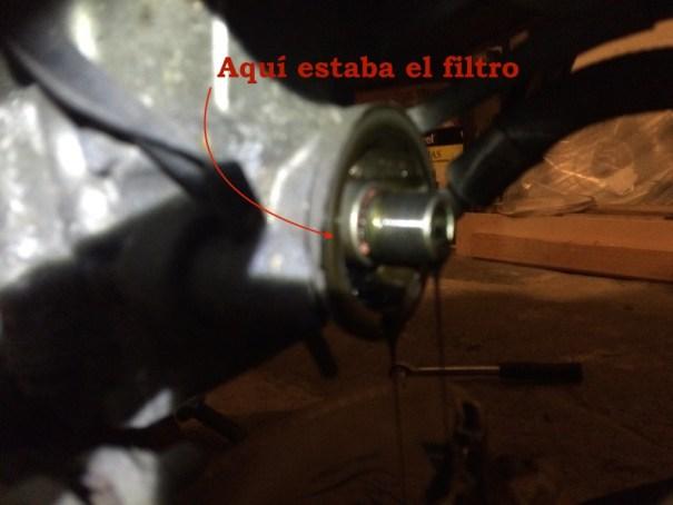 cambio filtro aceite moto