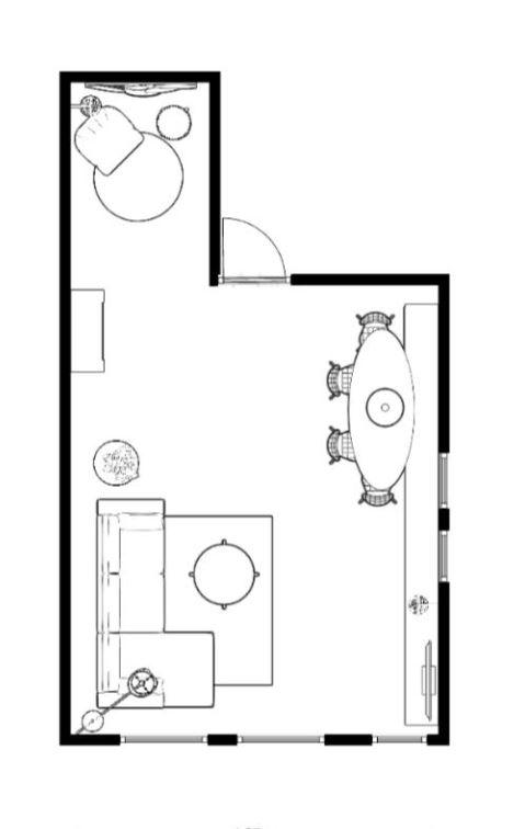 plattegrond 2d zwart wit