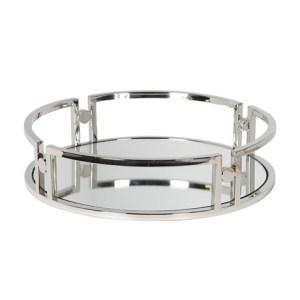 Stainless steel round mirror tray