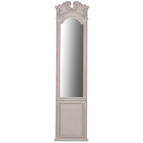 Washed wooden ornate mirror