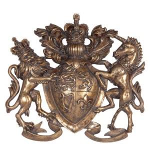 Heraldic wall motif