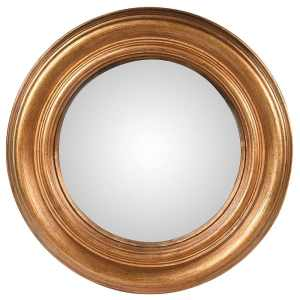 Brushed gold convex mirror (large)