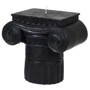 Black roman pillar candle (large)