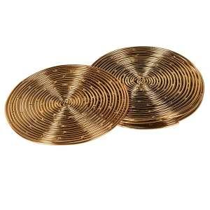 Gold decorative coasters (set of 4)