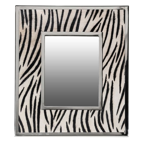 Zebra print table mirror (small)
