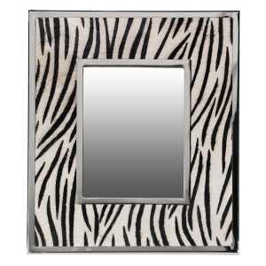 Zebra print table mirror (small)