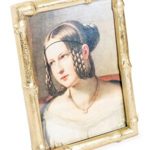 Antique gold bamboo frame (large)