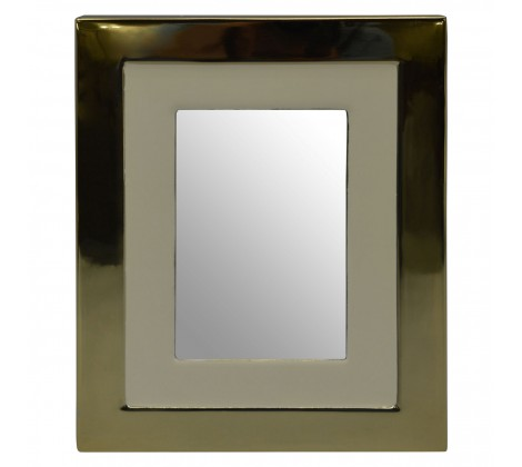 Gold and white photograph frame (large)