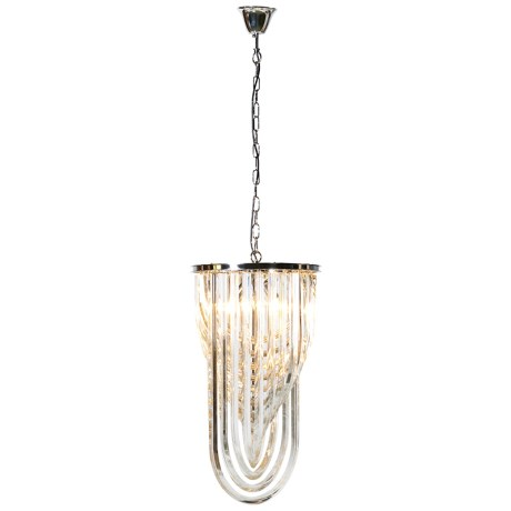 Art deco crystal pendant chandelier
