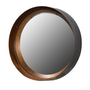 Brown and gold cylinder mirror (large)