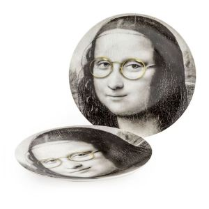 Mona Lisa glasses face plate (each)
