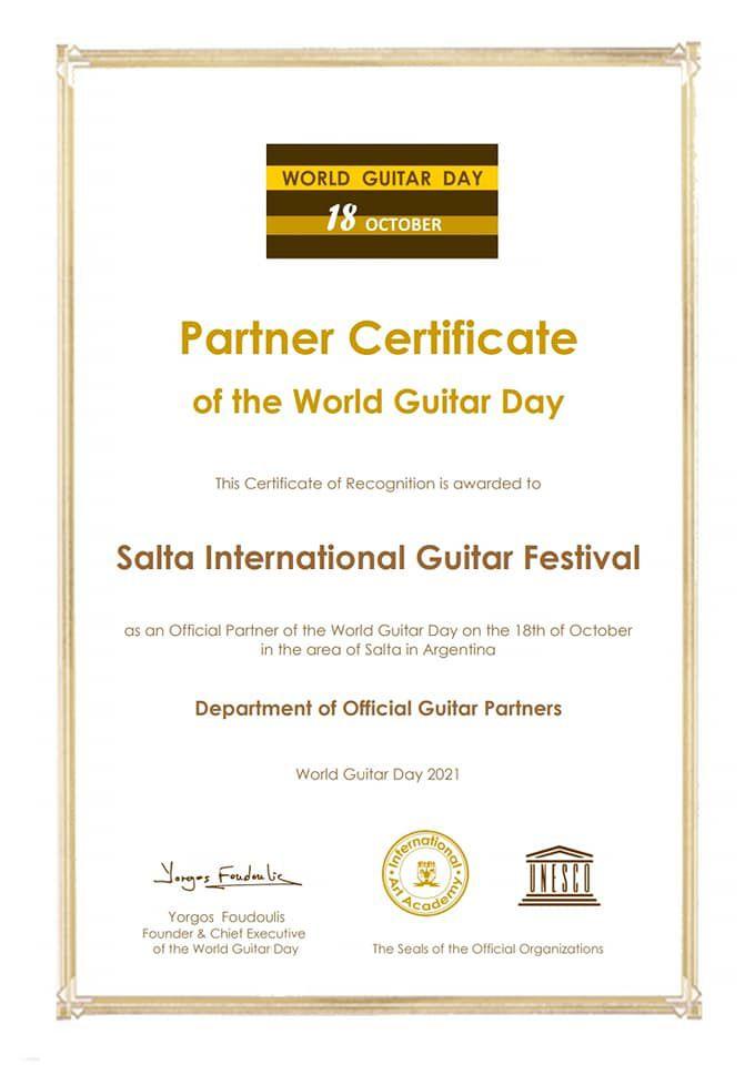Es la primera vez en la historia que se celebra este instrumento musical.