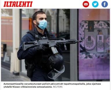 Kuva Iltalehden artikkelista: Kolme kuollut veitsihyökkäyksessä Nizzassa