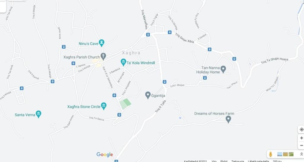 Gozon rantoja, kartta osa 2