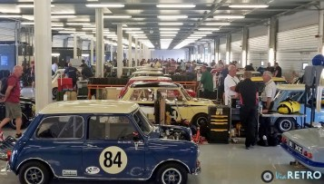 Just some of the 60 Mini's entered in the Mini Celebration Trophy