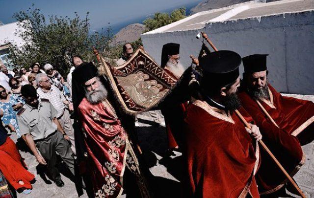 Πάτμος - Ο Επιτάφιος της Παναγίας - Viaros monastiriaka