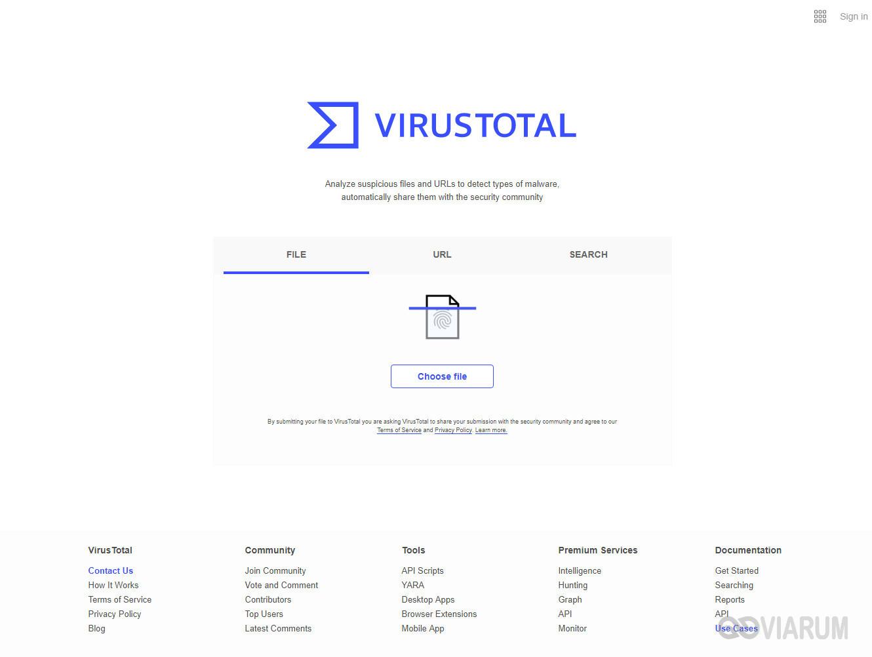 用于检查Virustotal文件的在线工具