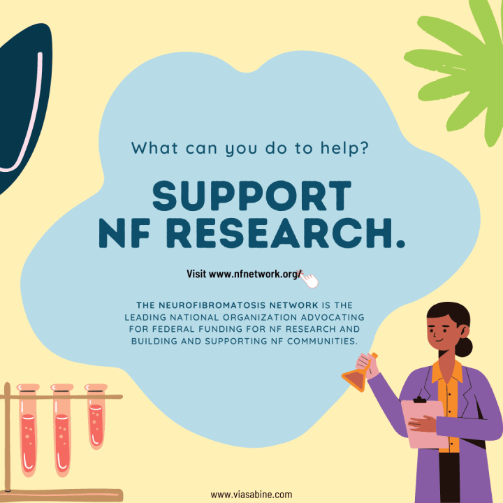 infographic: support neurofibromatosis research