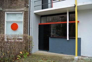 Rietveld House entrada botiga vertical