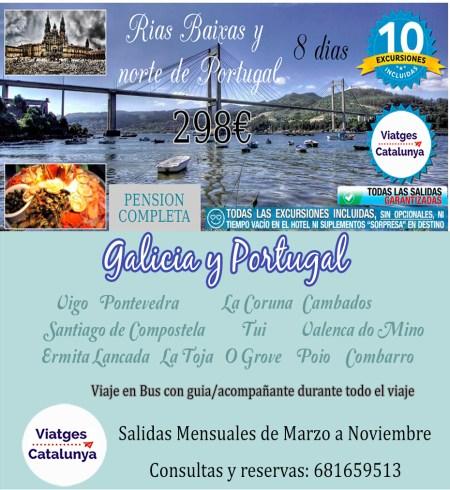 Galicia Rias Baixas y Norte de Portugal desde 298€