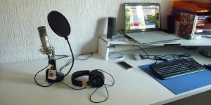Podcasting studio